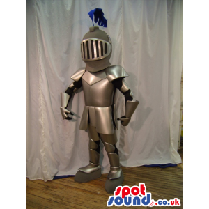 Amazing Realistic Medieval Warrior Armor Character Mascot -