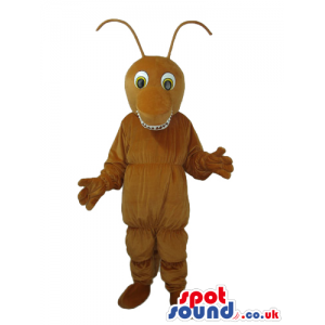Brown Ant Bug Plush Mascot With A Funny Smile And Eyes - Custom