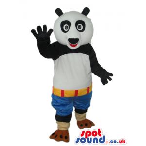Kung Fu Panda Movie Character Mascot With Blue Shorts - Custom