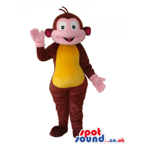 Brown Monkey Animal Mascot From Dora The Explorer Cartoon -