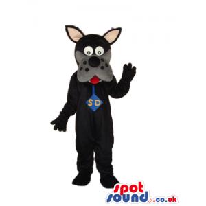Black Scooby-Doo Dog Cartoon Character Plush Mascot - Custom