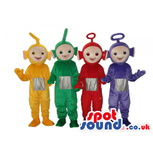 Five Popular Teletubbies Plush Mascots In Four Colors. - Custom