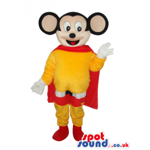 Cute Popular Mighty Mouse Cartoon Character Super Hero Mascot -