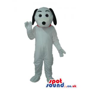 White Dog Plush Mascot Like Snoopy Cartoon Character - Custom