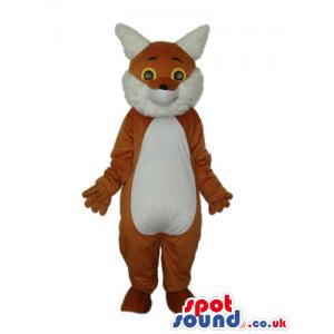 Fantasy Brown Fox Plush Mascot With A White Belly - Custom