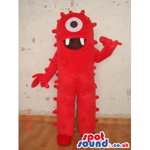 Red One-Eyed Yo Gabba Gabba Character Plush Mascot - Custom