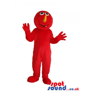 Elmo Alike Character Plush Mascot With Orange Nose - Custom