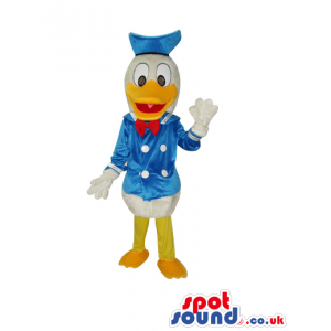 Popular Donald Duck Disney Character Plush Mascot With Garments