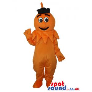 Orange Fantasy Pumpkin Plush Mascot With Cartoon Eyes - Custom