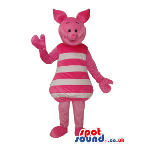 Winnie It Pooh Piglet Character Mascot In White Stripes -