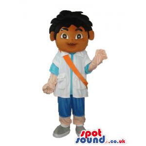 Dark Dora The Explorer Boy Cartoon Character Mascot - Custom