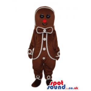 Ginger Bread Man Cake Plush Mascot With White Decoration -