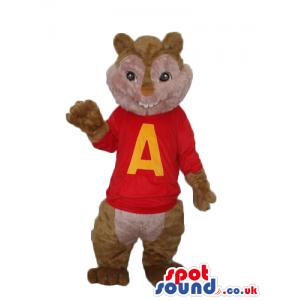 Alvin It Chipmunk Popular Movie Character Alike Mascot - Custom