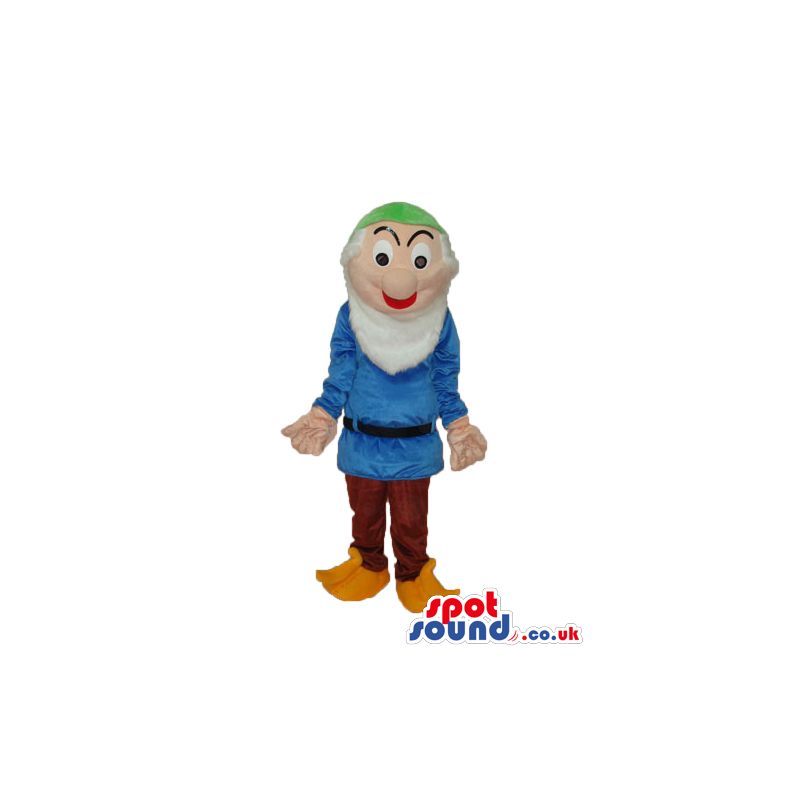 Snow White And The Seven Dwarfs Mascot In Blue Clothes - Custom
