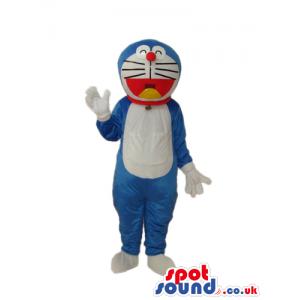 Doraemon Blue Cat Cartoon Character Plush Mascot With No Pocket