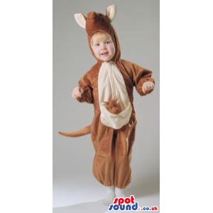 Cute Kangaroo Children Size Plush Costume With Small Baby -