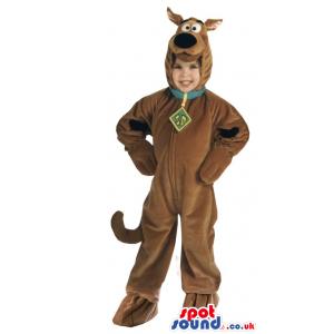Cute Scooby-Doo Cartoon Character Children Size Plush Costume -