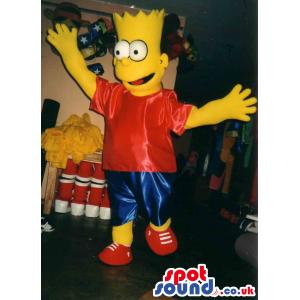 Bart Simpson Popular Cartoon Character Big Plush Mascot -