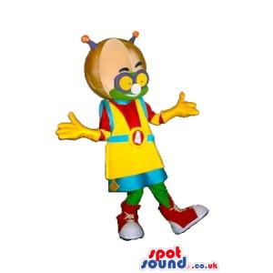Cosmic Alien Plush Mascot Wearing Space Garments And Big Helmet
