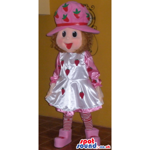 Strawberry Shortcake Shinny Children Cartoon Character Mascot -