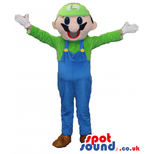 Mario Bros. Luigi Video Game Character Plush Mascot - Custom