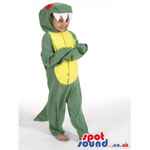 Green And Yellow Alligator Plush Children Size Costume - Custom