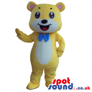 Fantasy Cute Yellow And White Teddy Bear Plush Masco - Custom