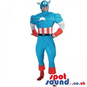 Amazing Captain America Superhero Adult Size Costume - Custom
