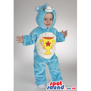 Trophy Care Bear Blue And White Bear Plush Baby Size Costume -