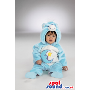 Moon Care Bear Blue And White Bear Plush Baby Size Costume -