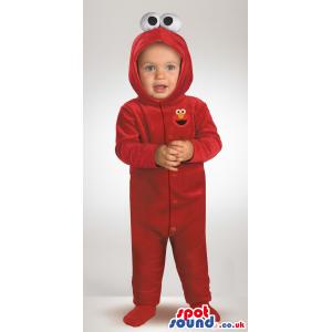 Cute Red Sesame Street Elmo Plush Baby Size Costume - Custom