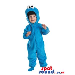 Blue Sesame Street Cookie Monster Plush Baby Size Costume -