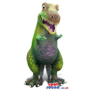 Amazing Realistic Green Dinosaur Mascot Or Air Big Doll -