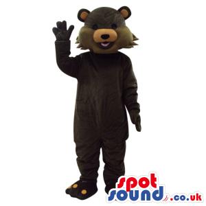 Customizable Dark Brown Fantasy Cartoon Bear Plush Mascot -