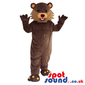 Customizable Brown Fantasy Cartoon Bear Plush Mascot - Custom