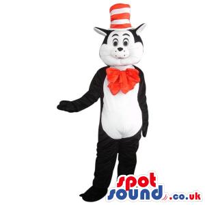 Popular Cat In The Hat Cartoon Children'S Story Plush Mascot -