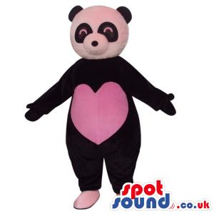 Customizable Cute Panda Bear Plush Mascot With A Big Heart -