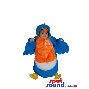 Cute Blue And Orange Bird Baby Size Funny Costume - Custom