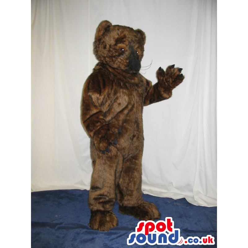 Customizable All Dark Brown Bear Animal Plush Mascot - Custom