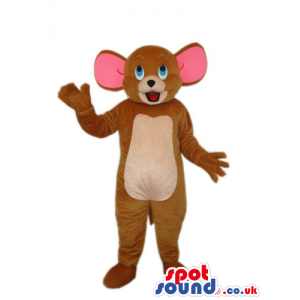 Tom And Jerry Cartoon Mouse Character Plush Mascot With Pink