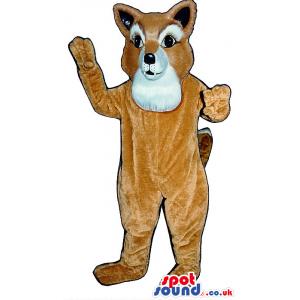 Customizable Brown Fox Plush Mascot With A White Face - Custom