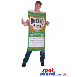 Hilarious Beer Can Adult Size Costume With Label And Logo -