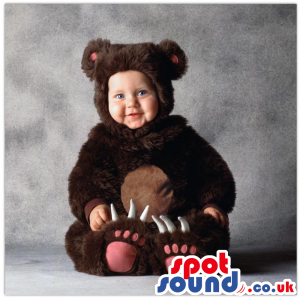 Cute Black And Brown Bear Baby Size Funny Costume - Custom
