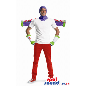 Buzz Astronaut Toy Story Character Adult Size Half-Costume -