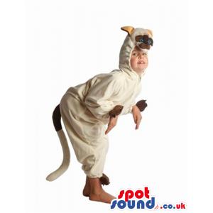 Cute Beige Kangaroo Animal Plush Children Size Costume - Custom