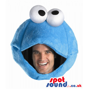 Blue Cookie Monster Character Plush Adult Size Costume. -