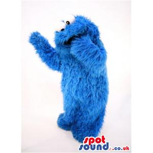 Blue Hairy Cookie Monster Character Plush Mascot - Custom