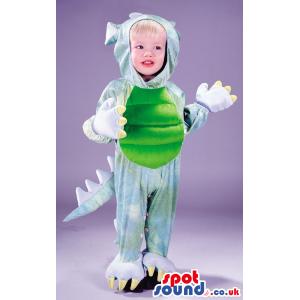 Cute Green And Blue Dragon Halloween Baby Size Costume - Custom