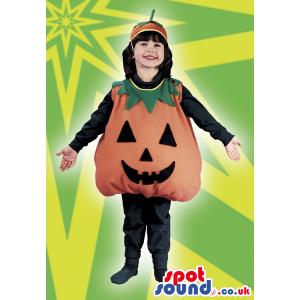 Cute Halloween Pumpkin Children Size Costume With Hat - Custom
