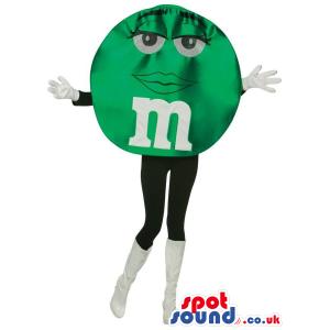 Shinny Green M&M'S Brand Name Chocolate Snack Popular Mascot -